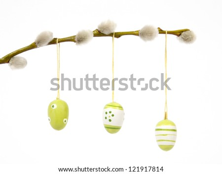 The Easter painted eggs - stock photo