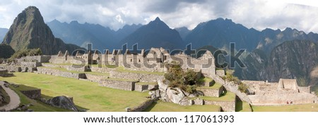 The Eastern Urban Sector of Machu Picchu with Wide Plazas in the Foreground