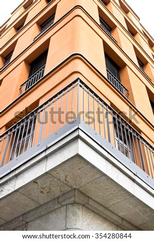 The edge of a modern apartment building in Germany - stock photo