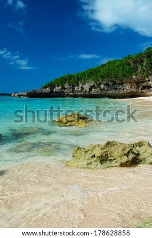 The Edge of The Surf in SUNAYAMA Beach, Okinawa Prefecture/Japan - stock photo