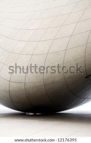 The Egg Chicago Millenium Park Architectural Details Design - stock photo