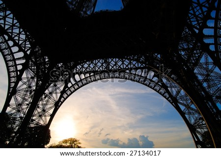 The Eiffel Tower in evening light