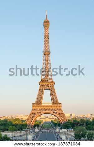 The Eiffel Tower in Golden Light II - stock photo