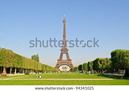 The Eiffel Tower in spring.