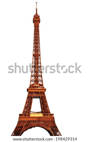 The Eiffel Tower Isolated - stock photo