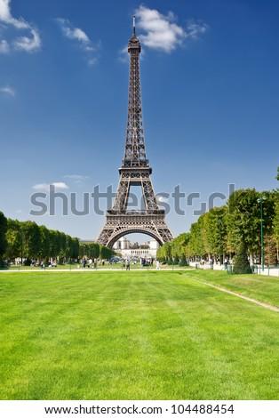 The Eiffel Tower, Paris - stock photo