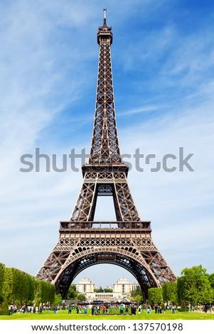 The Eiffel Tower Paris - stock photo