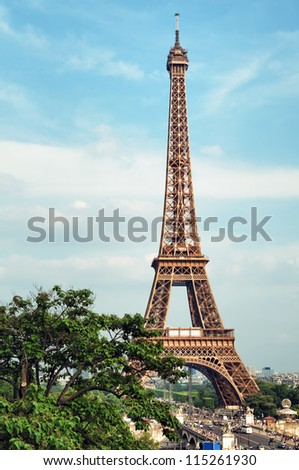 The Eiffel Tower, Paris - France. - stock photo