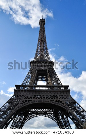 The eiffel tower what is one of famous landmark in the world in Paris, France (Classic style)