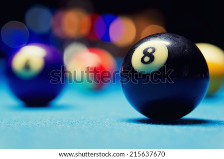 The eight ball / Billiard Balls