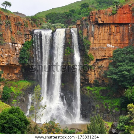 The Elands River Waterfall in Mpumalanga, South Africa - stock photo