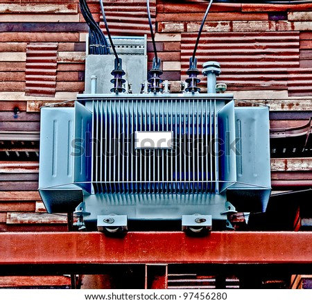 The Electric transformer - stock photo