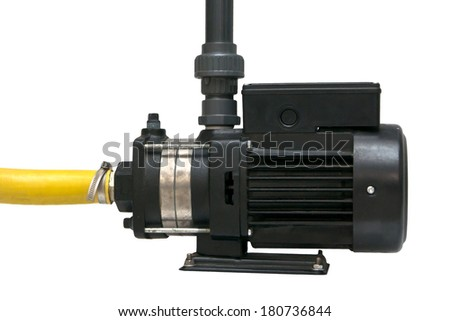 The electric water pump, isolated on the white. - stock photo