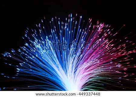 The electric wire act like a firework
