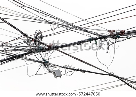 Electrical Wires On White Background Electric Stock Photo (Safe to ...
