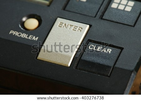 The electronic portable computer game button represent the electronic board game and technology concept related idea.