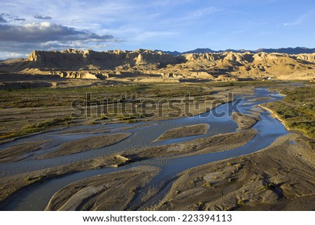 The elephant river and clay forest in Ngari of Tibet, China.