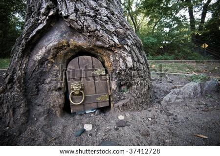 The Elf Door - stock photo