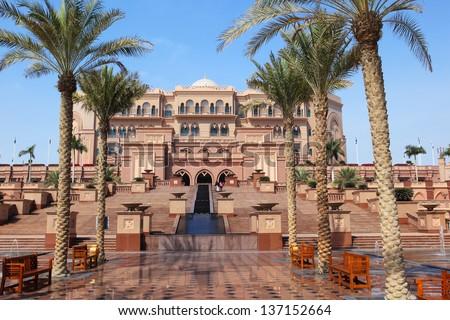 The Emirates Palace in Abu Dhabi, UAE - stock photo