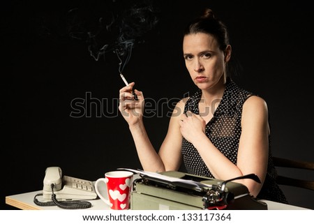 The employee with the bad attitude that everyone has met - stock photo