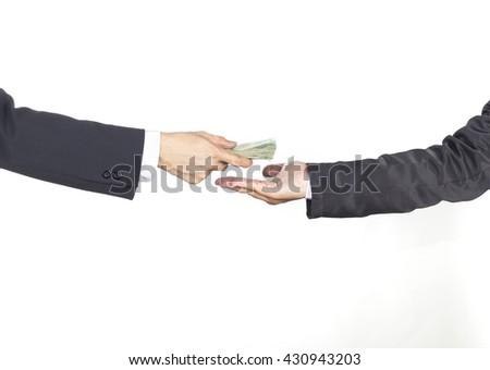 The employer agreed to do business together./Concept of business and finance.