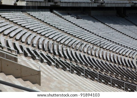 The empty barcelona olympic stadium