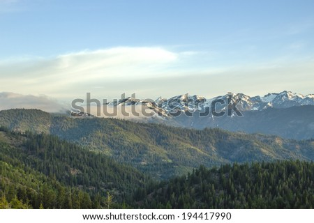 The Enchantments from Blewett Pass  - stock photo