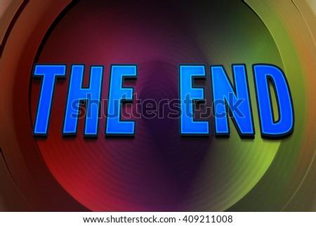 The End Comic Speech Bubble - stock photo