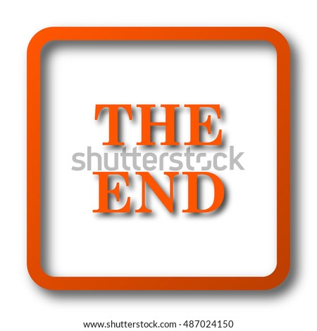 The End icon. Internet button on white background.