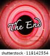 the end Movie ending screen images - stock photo