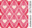 The Endless Heart shape seamless pattern for printing - stock vector