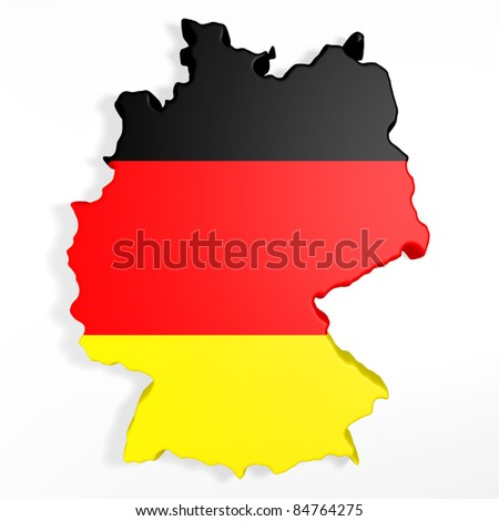 The entire 3d germany on a white background - stock photo