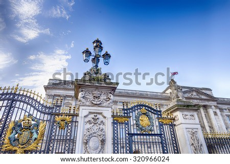 The entrance. - stock photo
