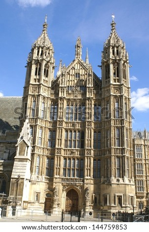 The entrance of westminster. the British parliament, London, England