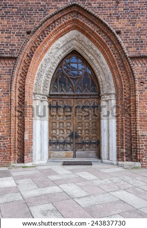 The entrance to the Archcathedral Basilica in Frombork, Poland