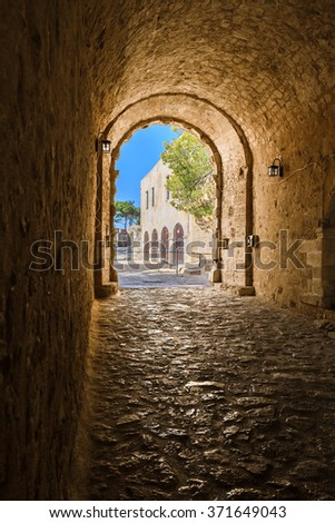 The entrance to the Fortezza in Rethymnon Crete