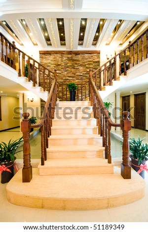 The Entrance To This Beautiful House, The Spiral Stair Case.
