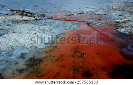 The environmental contamination with chemicals - stock photo