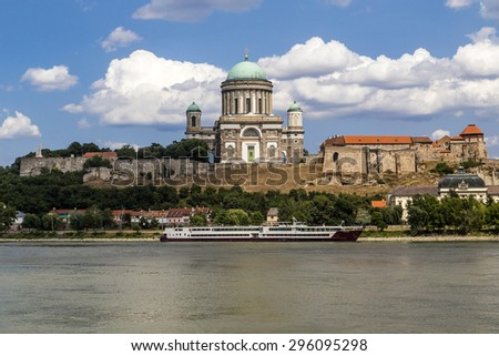 The Esztergom basilica is located near to river Danube, bordeline of Hungary and Slovakia.