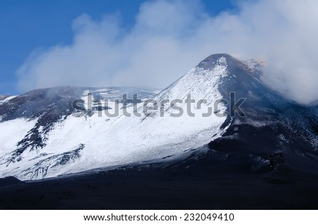 the Etna volcano - stock photo