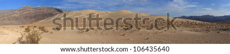 The Eureka Valley Sand Dunes are located in the southern part of Eureka Valley, in northern Inyo County in eastern California, in the southwestern United States