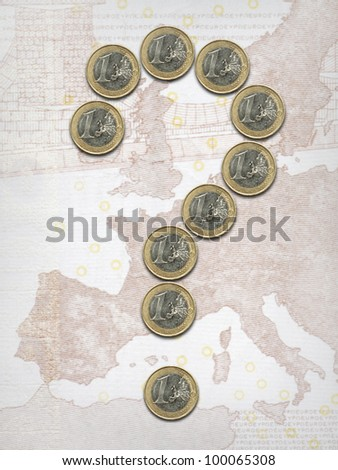 The euro doubt - stock photo