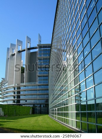 The European Parliament building, in Strasbourg, France - stock photo