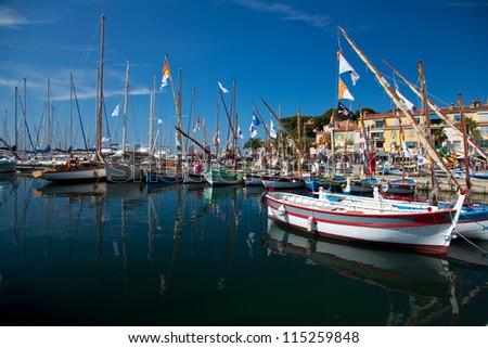 The European port small town - stock photo