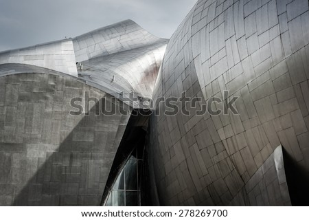 The Experience Music Project Museum at the Seattle Center, in Seattle, Washington. - stock photo