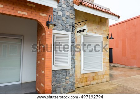 The exterior design of public toilets