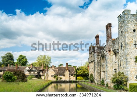 the exterior of Hever castle - stock photo