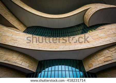 The exterior of the National Museum of the American Indian in Washington, DC. - stock photo