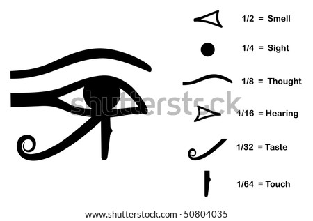 Eye Horus Divided Into Six Parts Stock Illustration 50804035