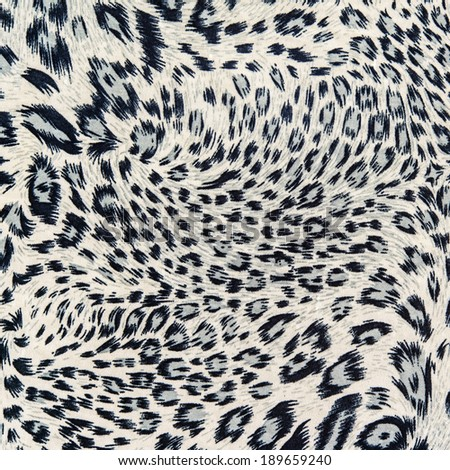 The fabric on striped leopard for background - stock photo